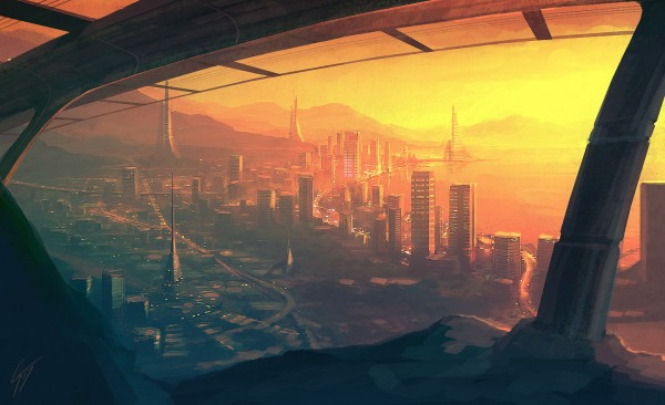 speedpaint___future_city_by_antifan_real