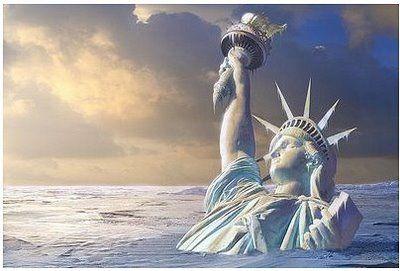 Bildergebnis für statue of liberty sinking destroyed images